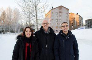 Kajsa Simu, Lars Stehn och Jarkko Erikshammar.